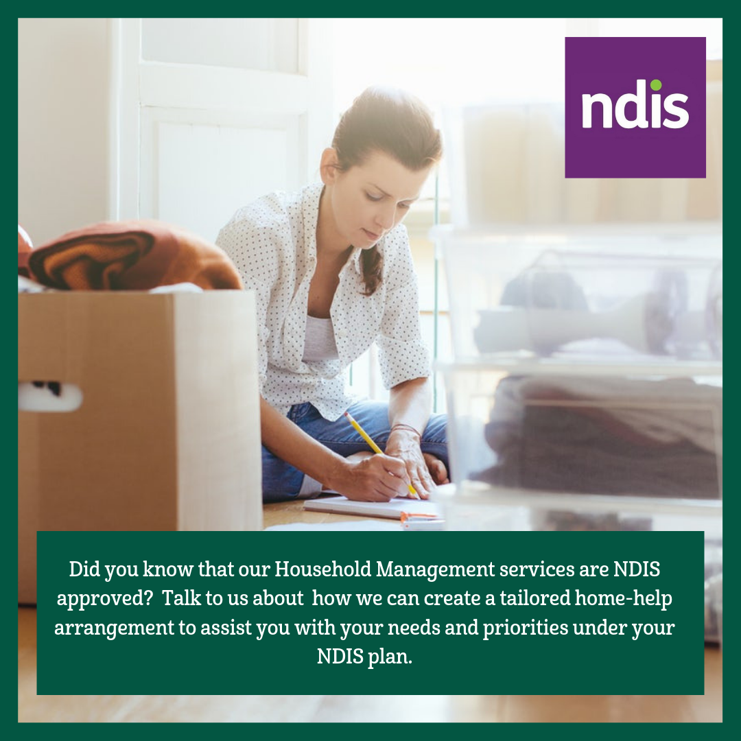 Home Management help under your NDIS plan
